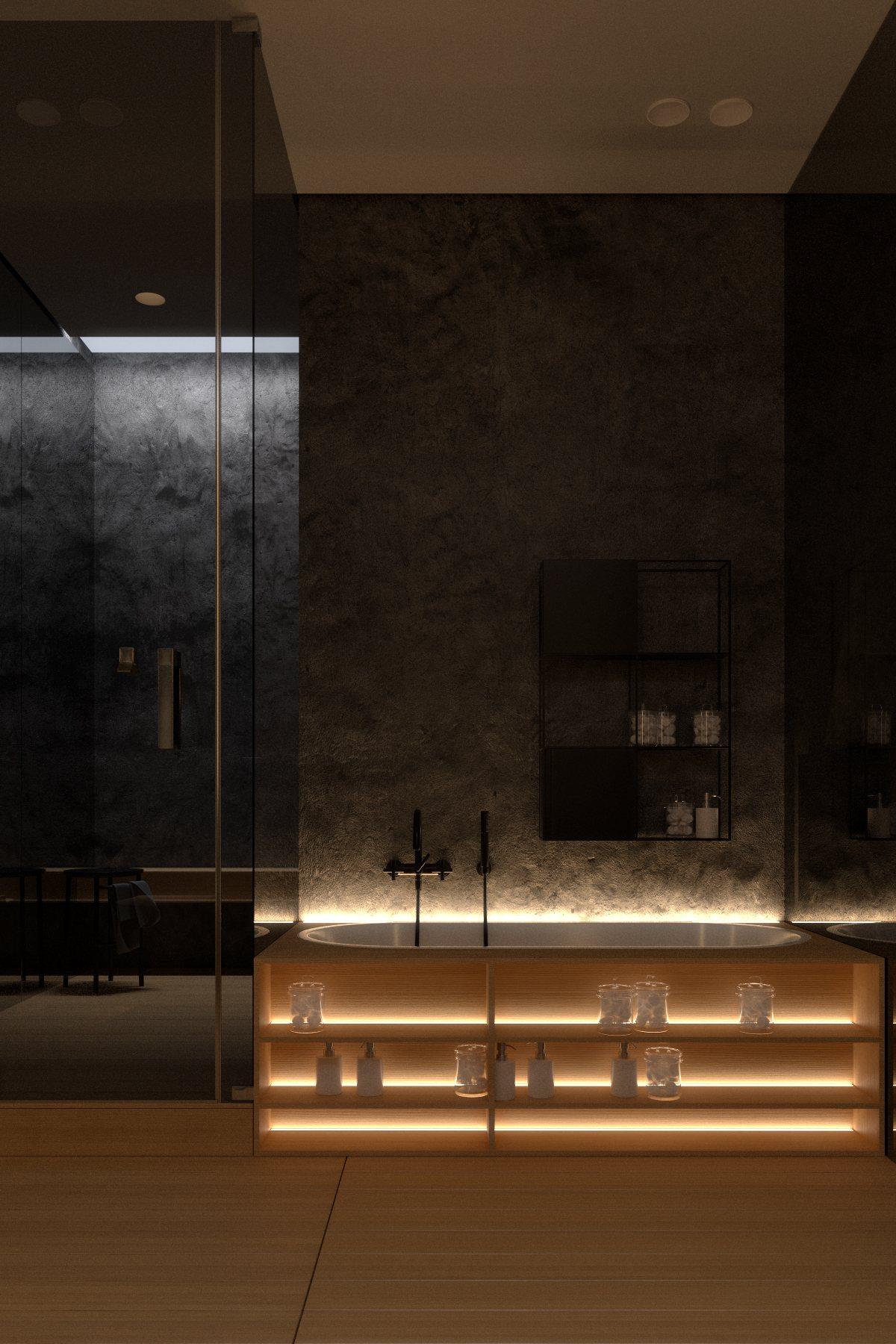 Luxury bathroom interior design style