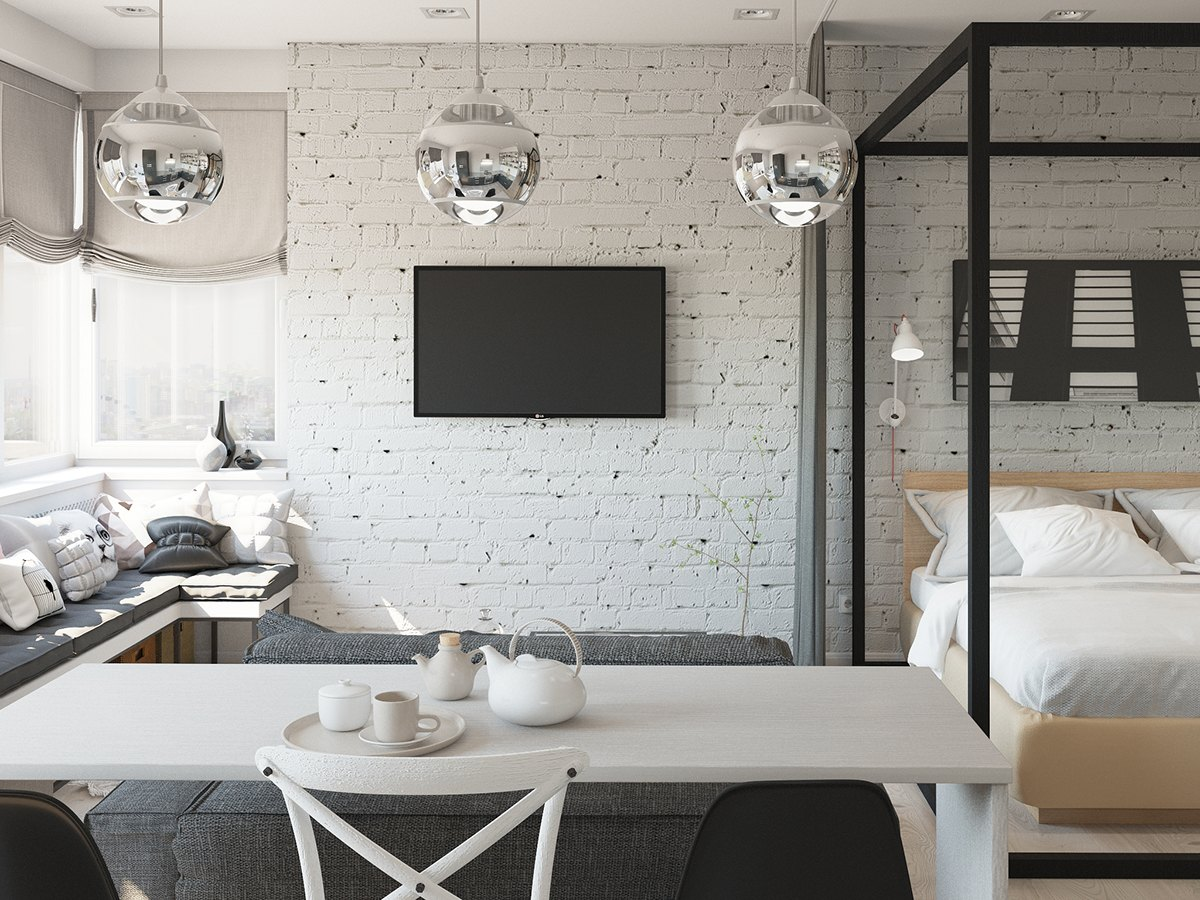 Cute apartment interior design