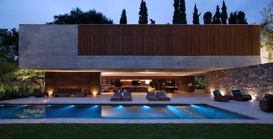 A beautiful swimming pool landscape