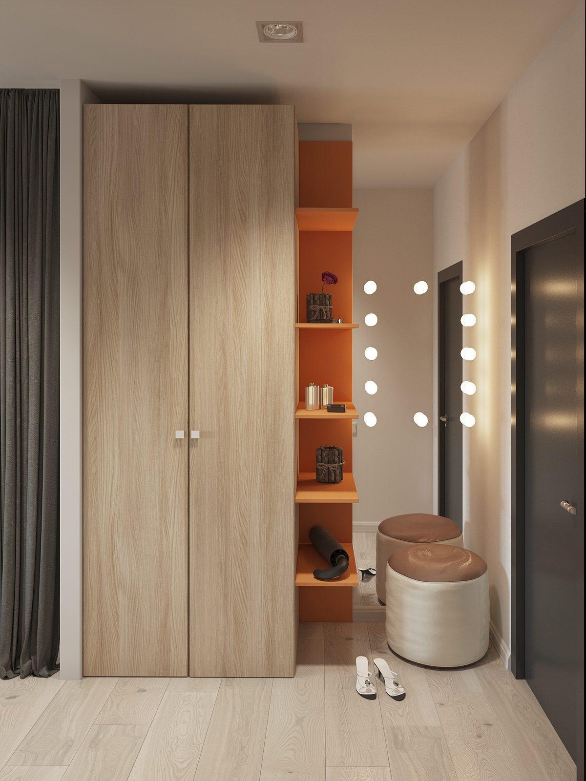 Apartment Foyer Xl : Studio apartment interior design with cute decorating
