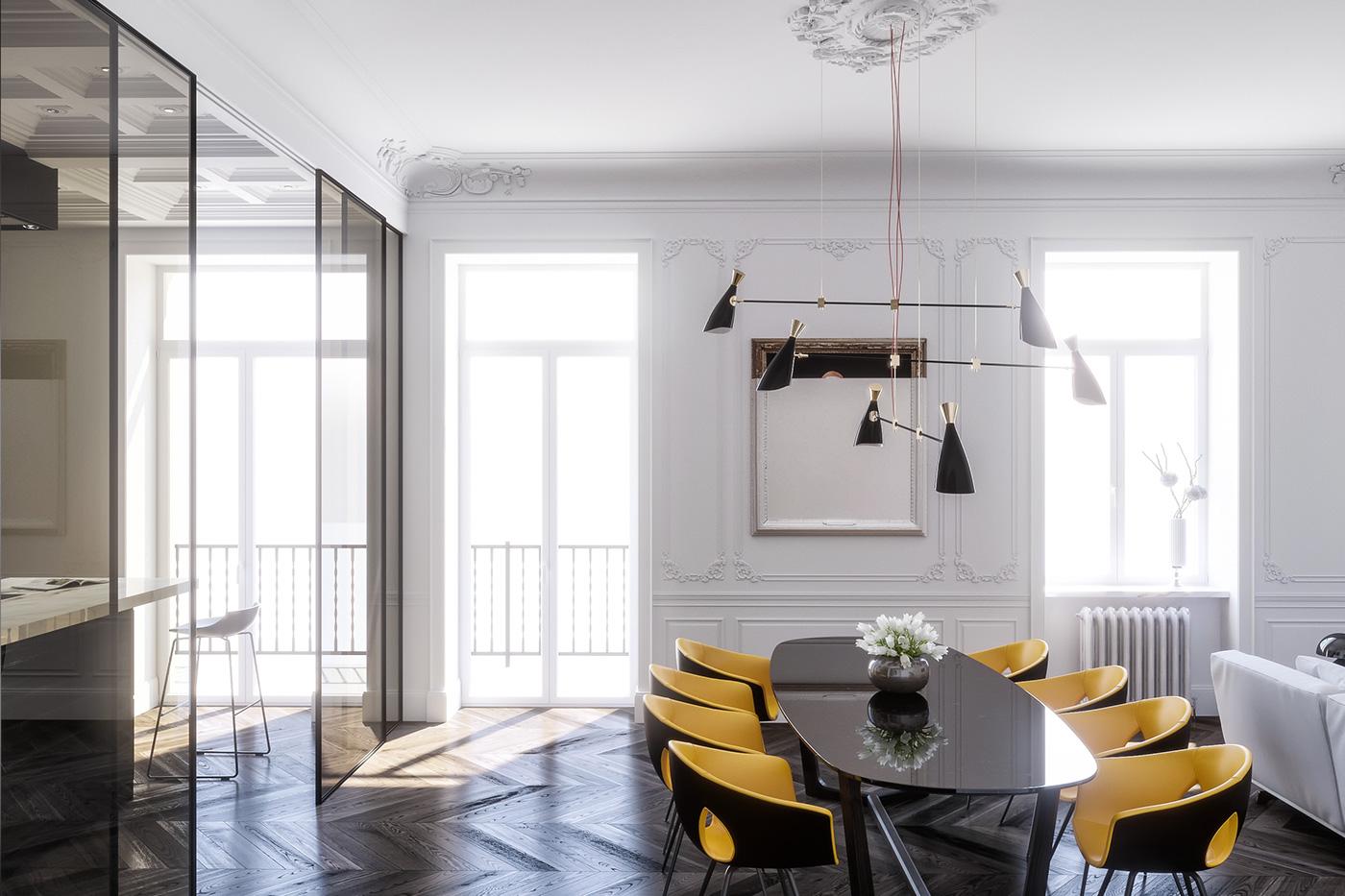 Modern interior design for dining room