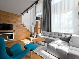 Scandinavian loft interior design
