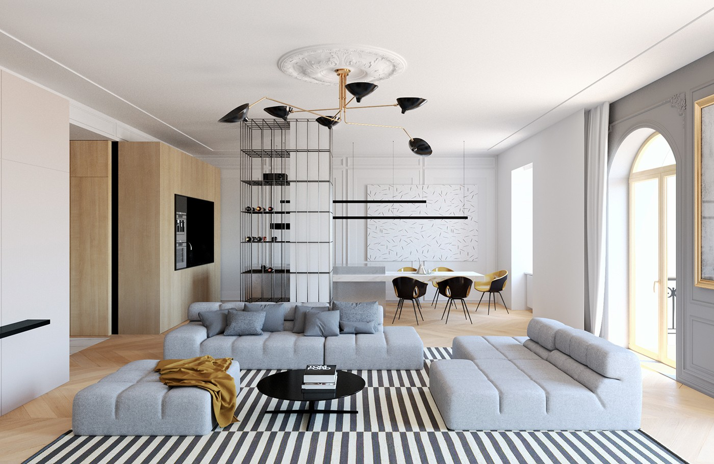 How to arrange a trendy minimalist home design with modern Transitional contemporary