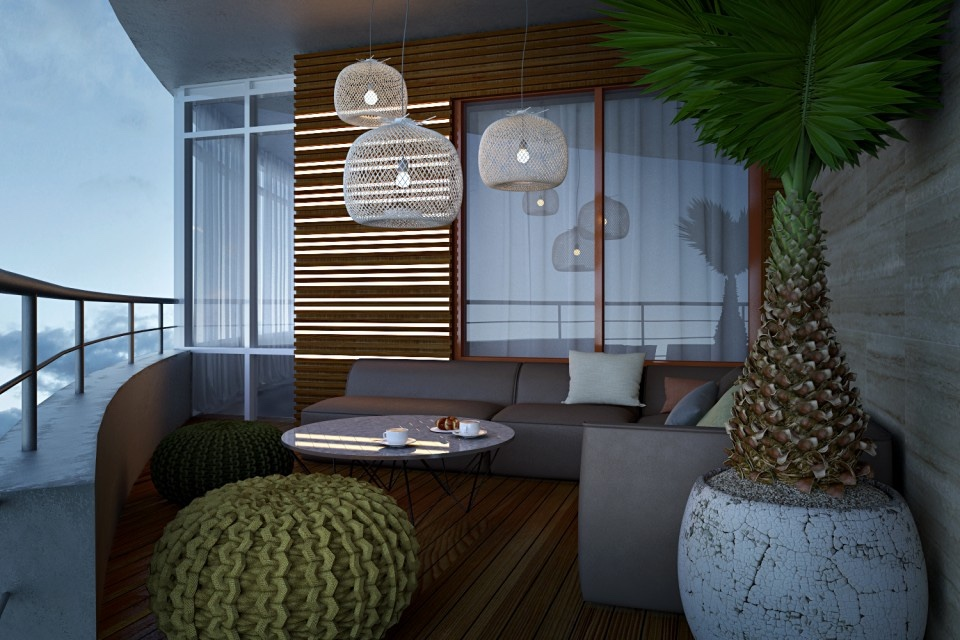 Comfortable balcony design