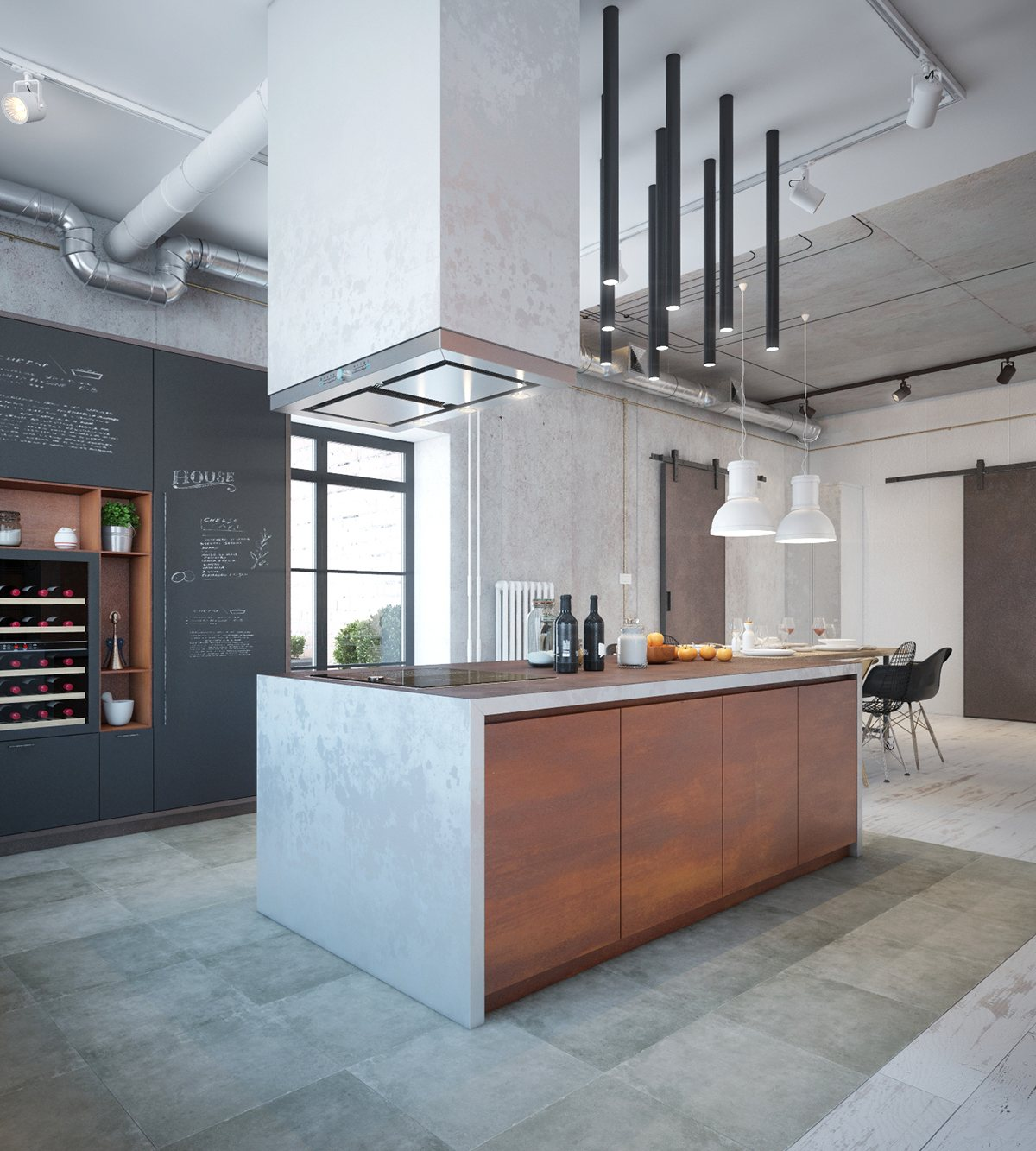 industrial kitchen design industrial house design and decor for stylish appearance 1838