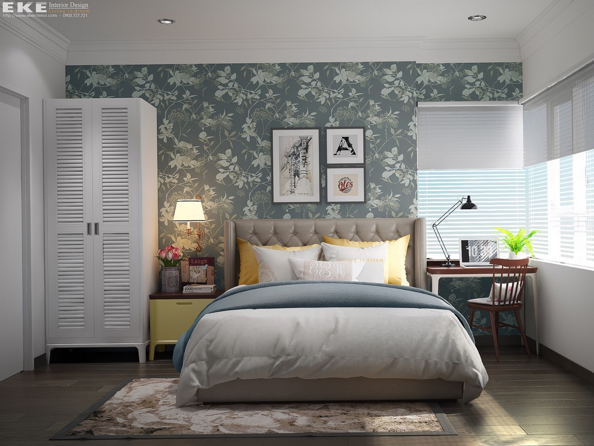 10 vintage bedroom design style with fancy furniture and for Bedroom mural designs