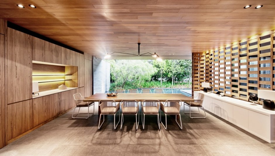 Luxury dining room design with beautiful view