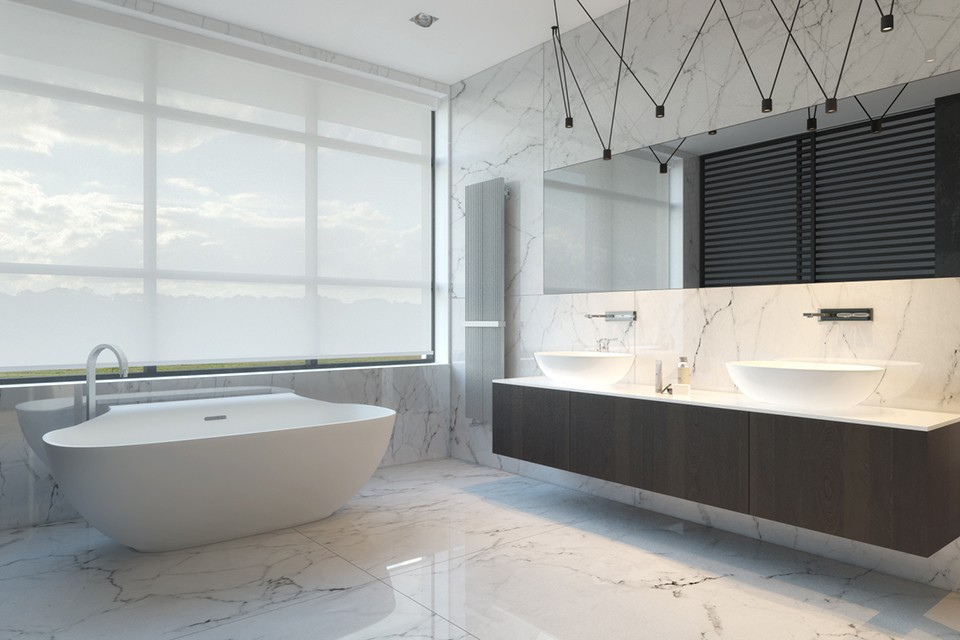 Modern and minimalist bathroom design
