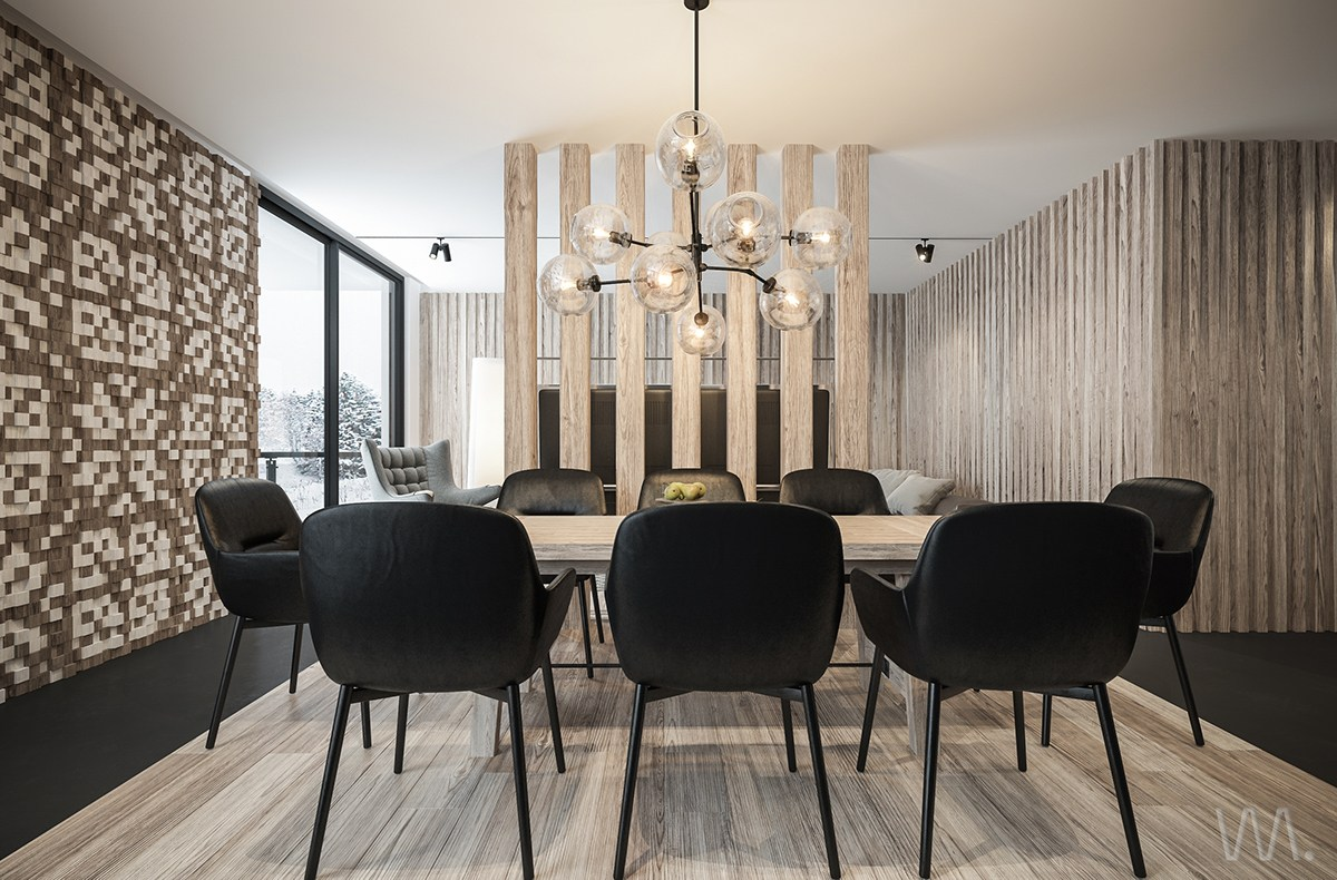 magnificent wood decor for small apartment design - roohome
