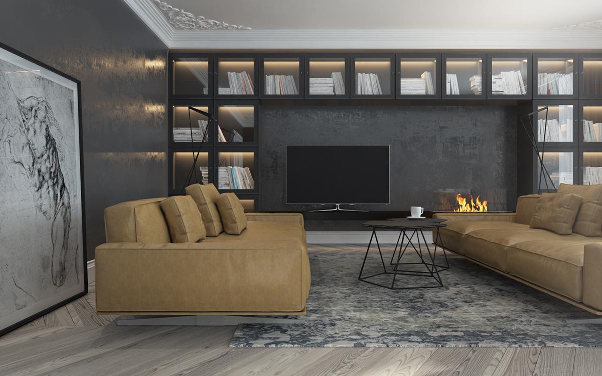 Artistic living room design