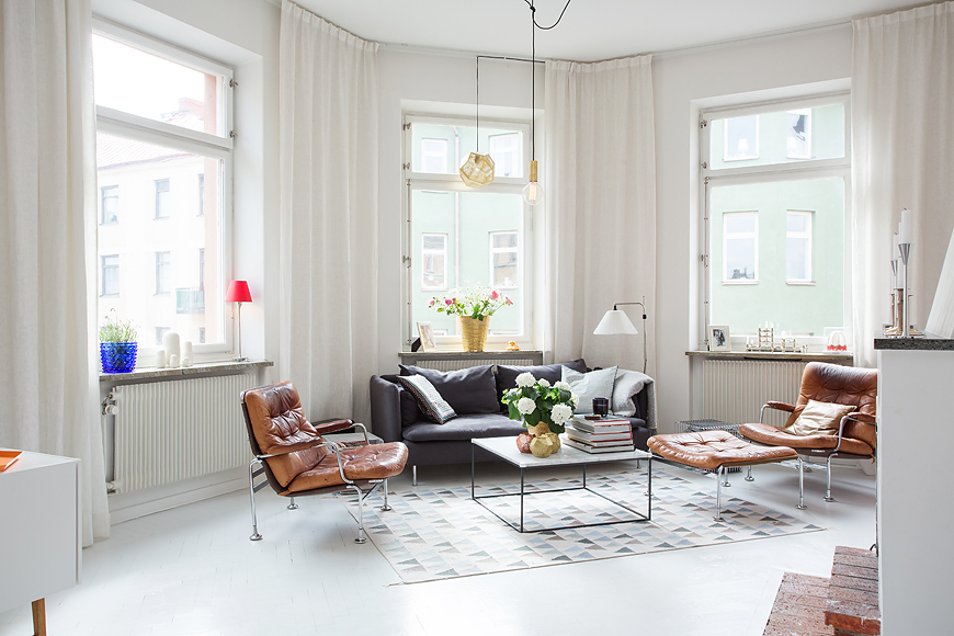 Swedish living room design