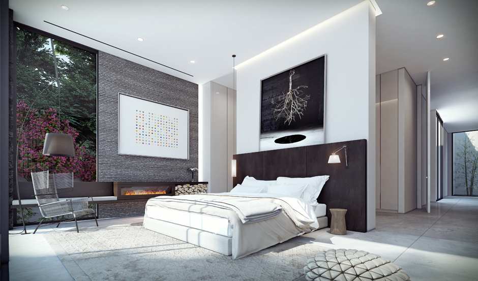 Elegant bedroom theme