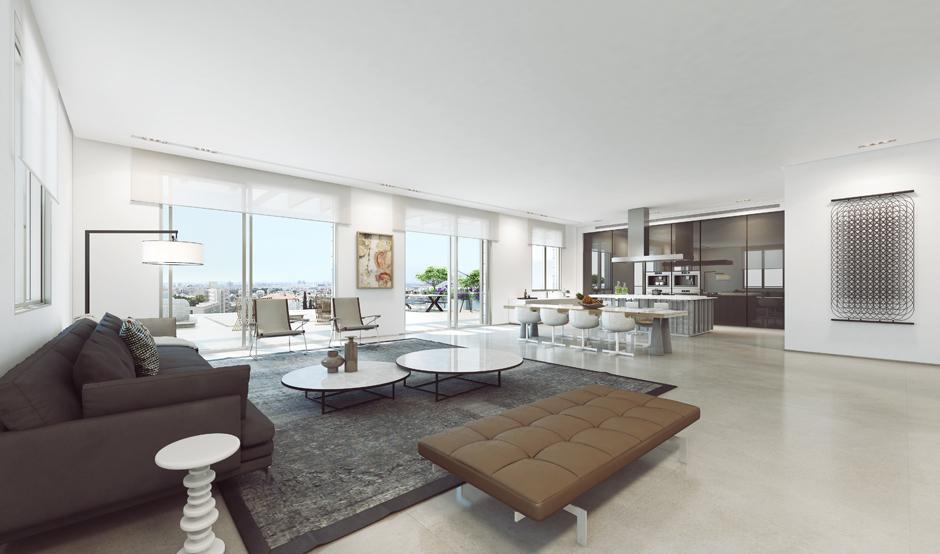 Mid-century living room style