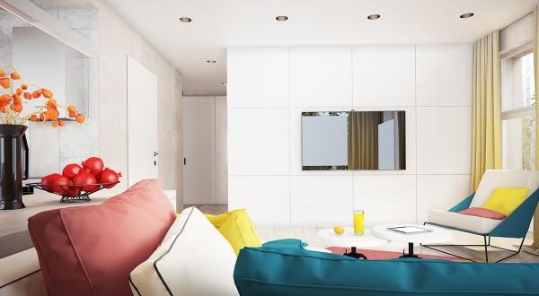 Colorful interior designs ideas