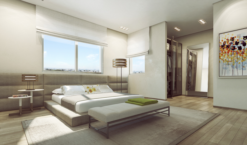 Modern bedroom theme