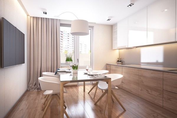 Small dining room interior design
