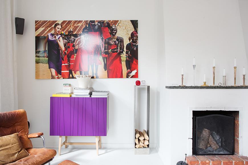 Unique living room interior