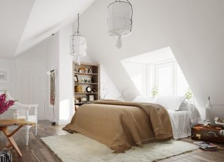 scandinavian design with white color theme