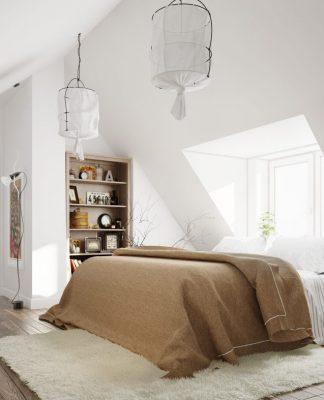 scandinavian design with white color theme