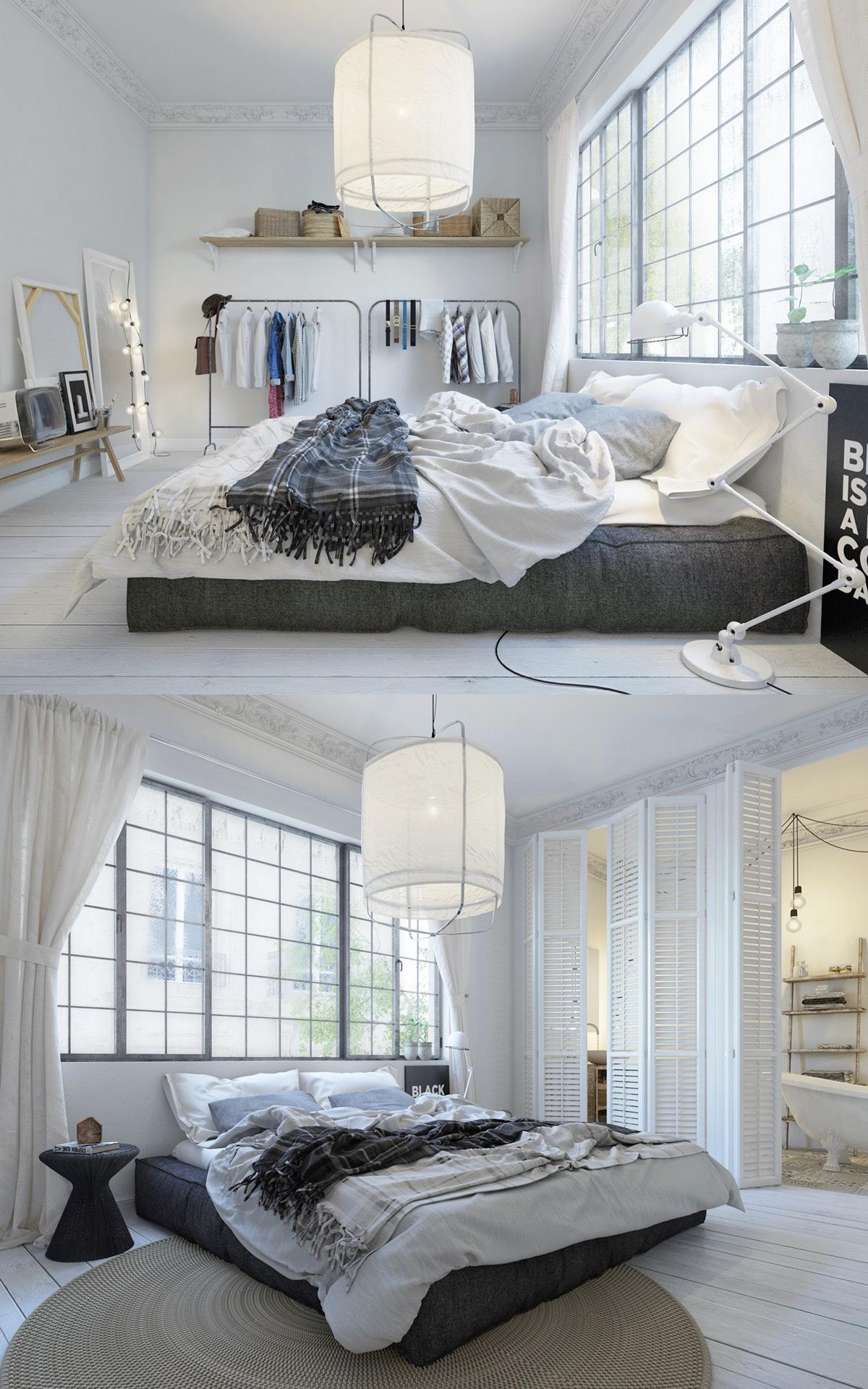 Scandinavian simple white designs