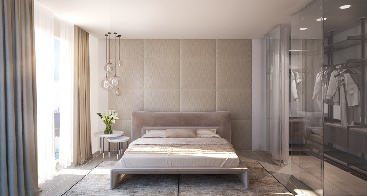 modern bedroom wall design