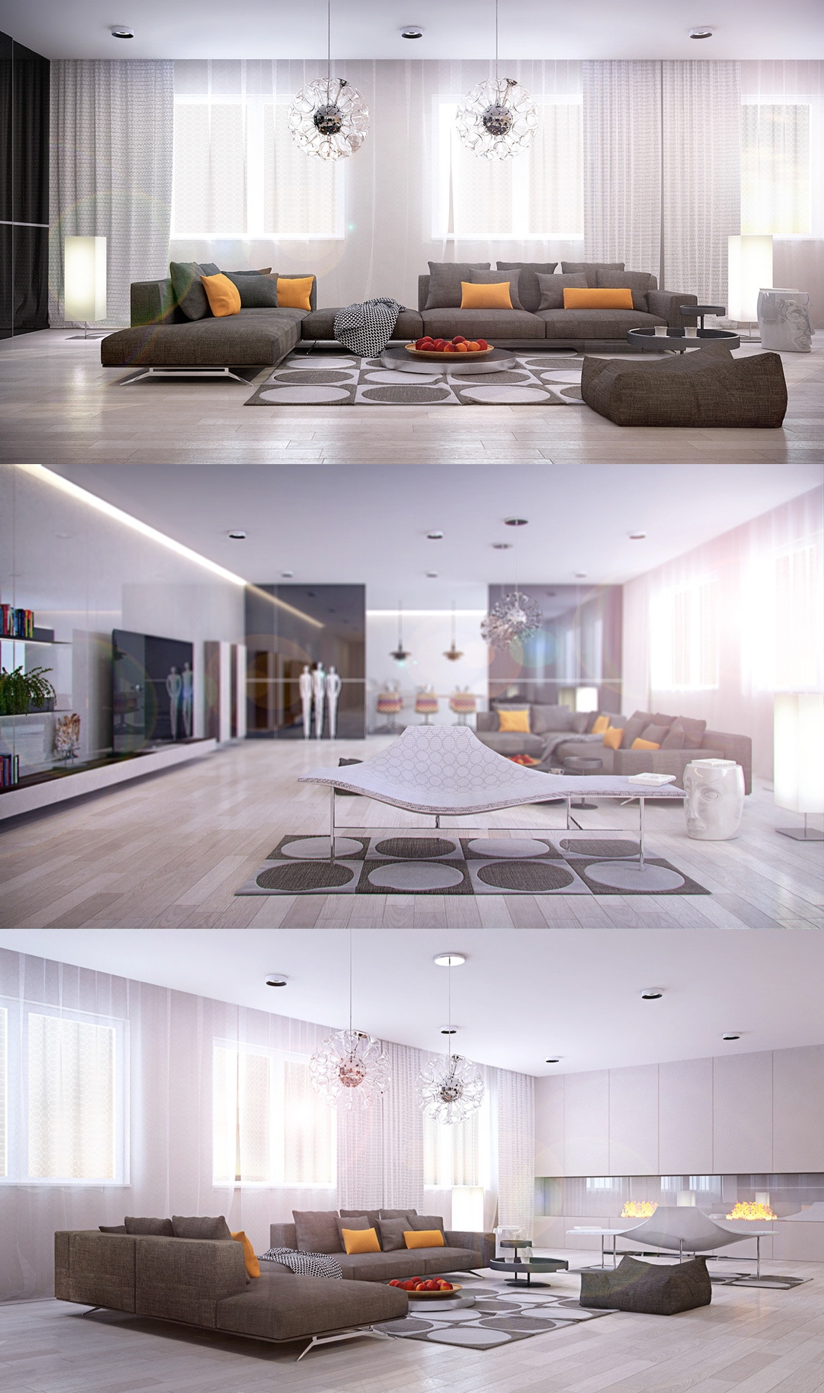 white color for living room