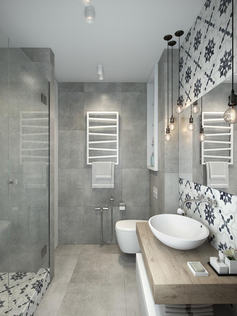 monochromatic theme for bathroom