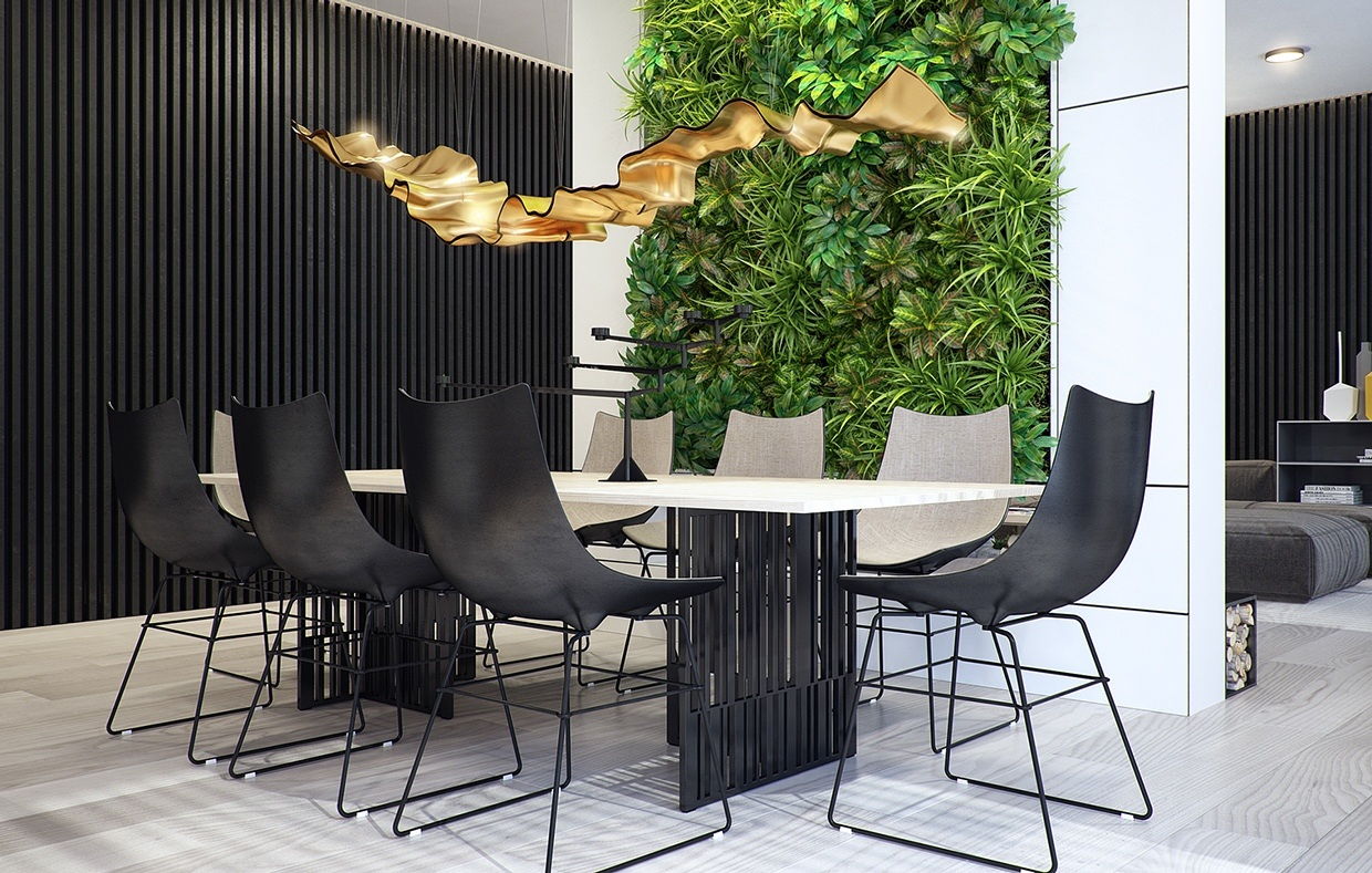 dining room with natural element