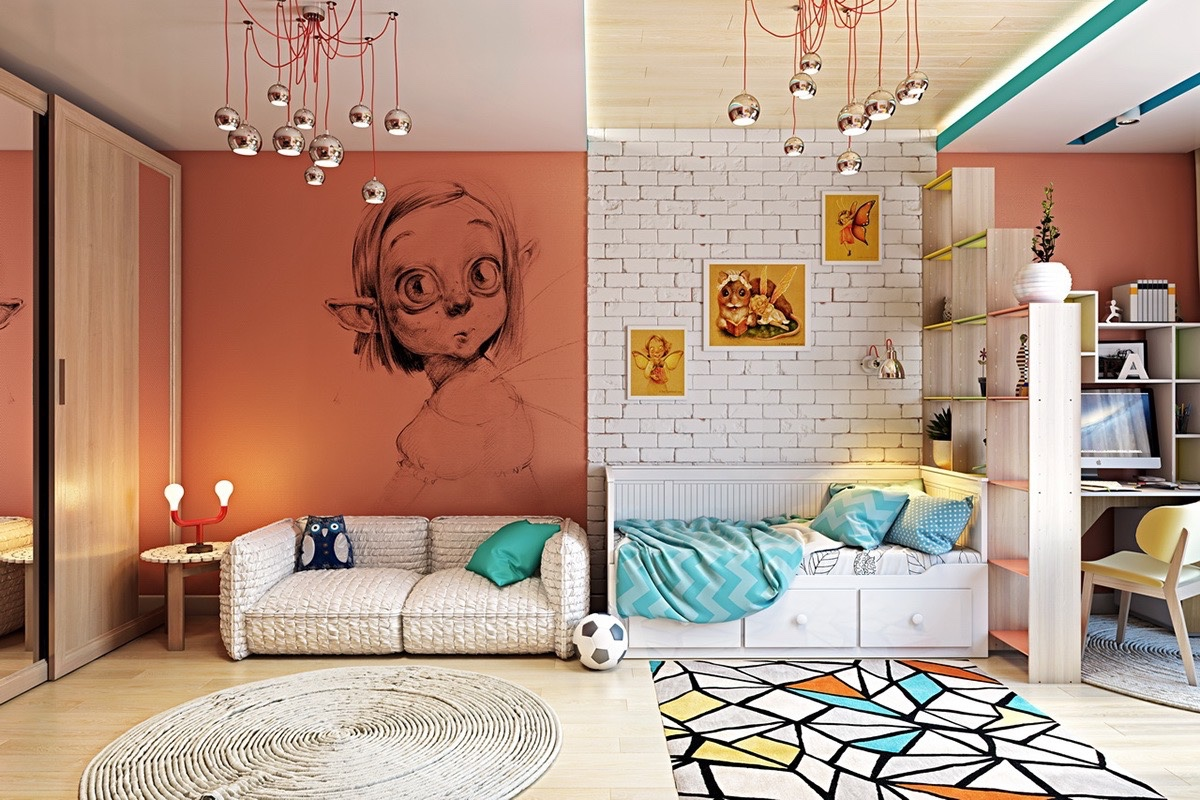 Types of kids room decorating ideas and inspiration for - Wall decoration ideas for bedrooms ...