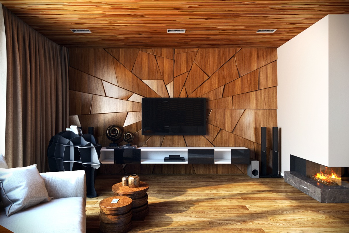 living room wall texture design