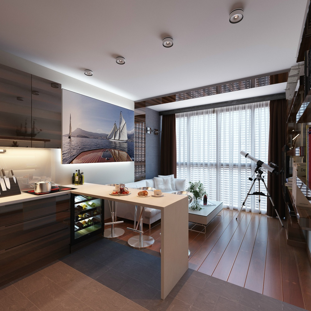2 Concepts of Studio Apartment Decorating Which Makes Elegant and Modern  RooHome  Designs  Plans