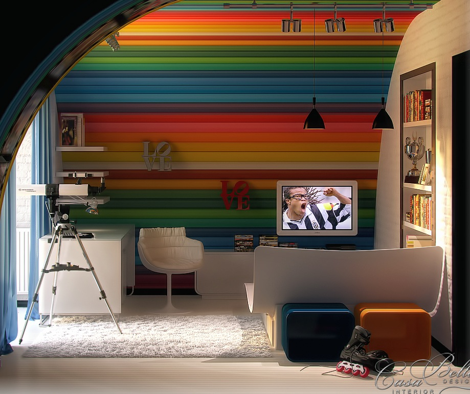 colorful theme kids room ideas