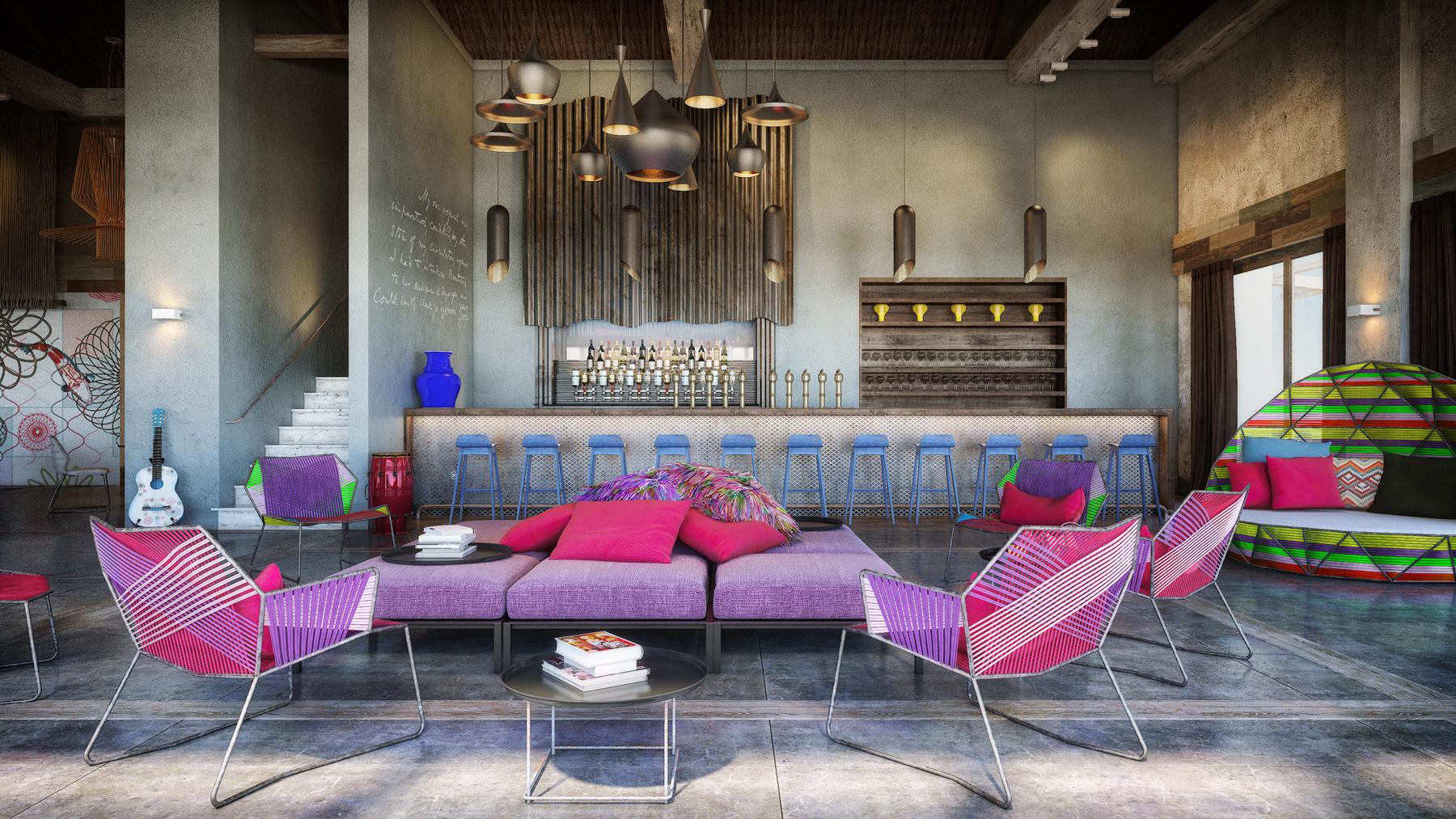 exuberant interior home design