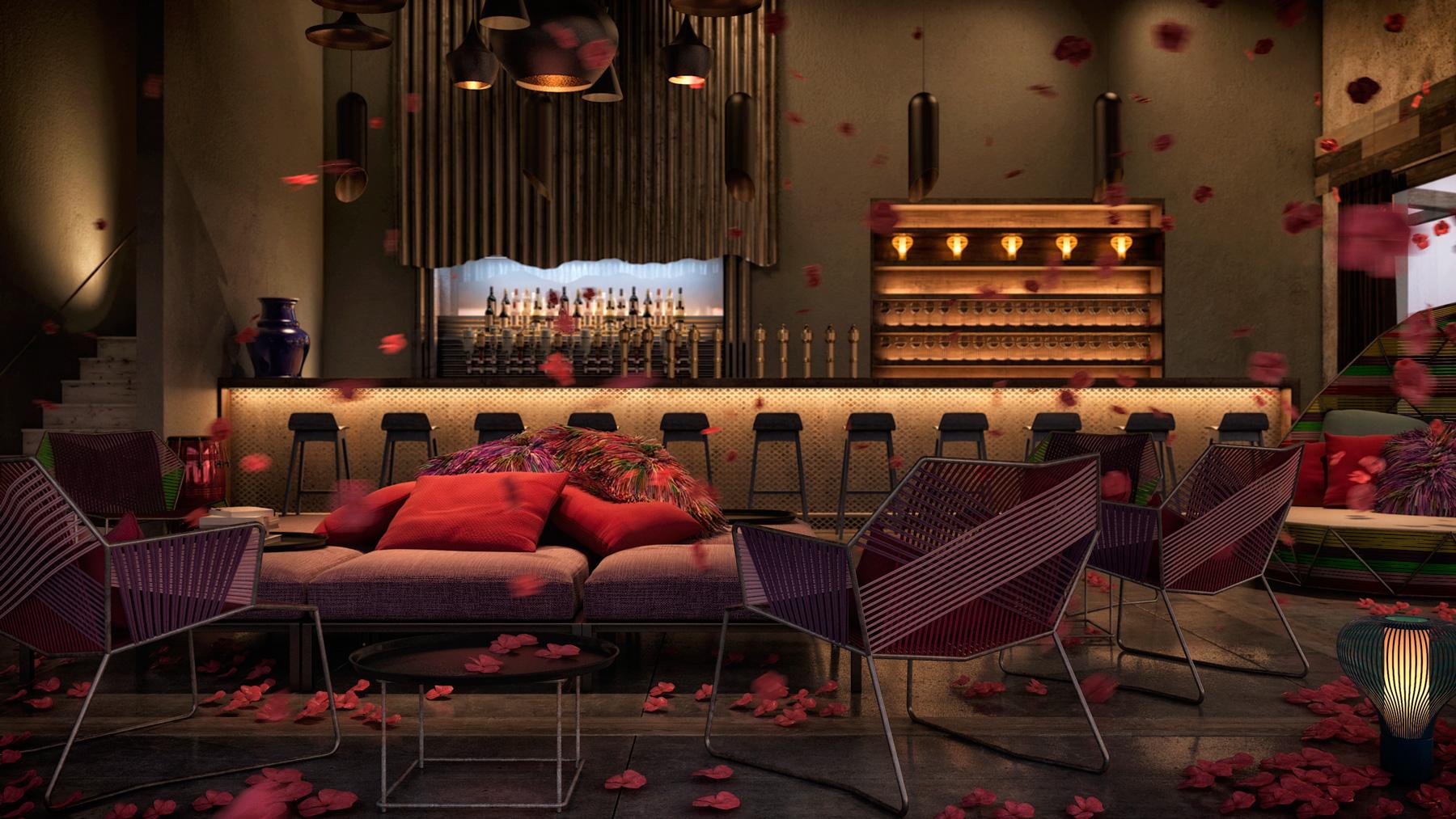 Bar Interiors Design Source · Colorful And Exuberant Home Interior Design  Ideas Look .