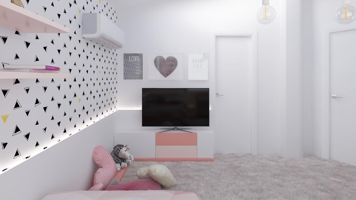 soft pink color for girl bedroom