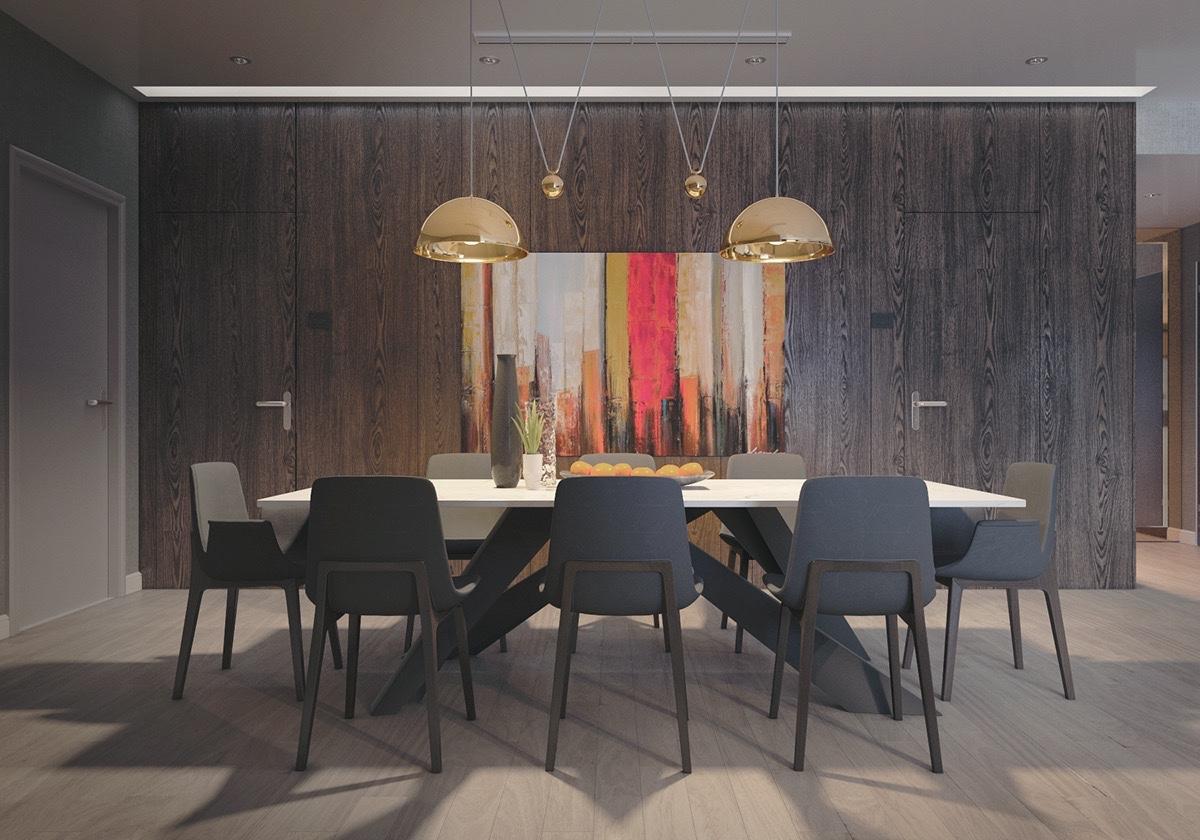 dark vintage dining room