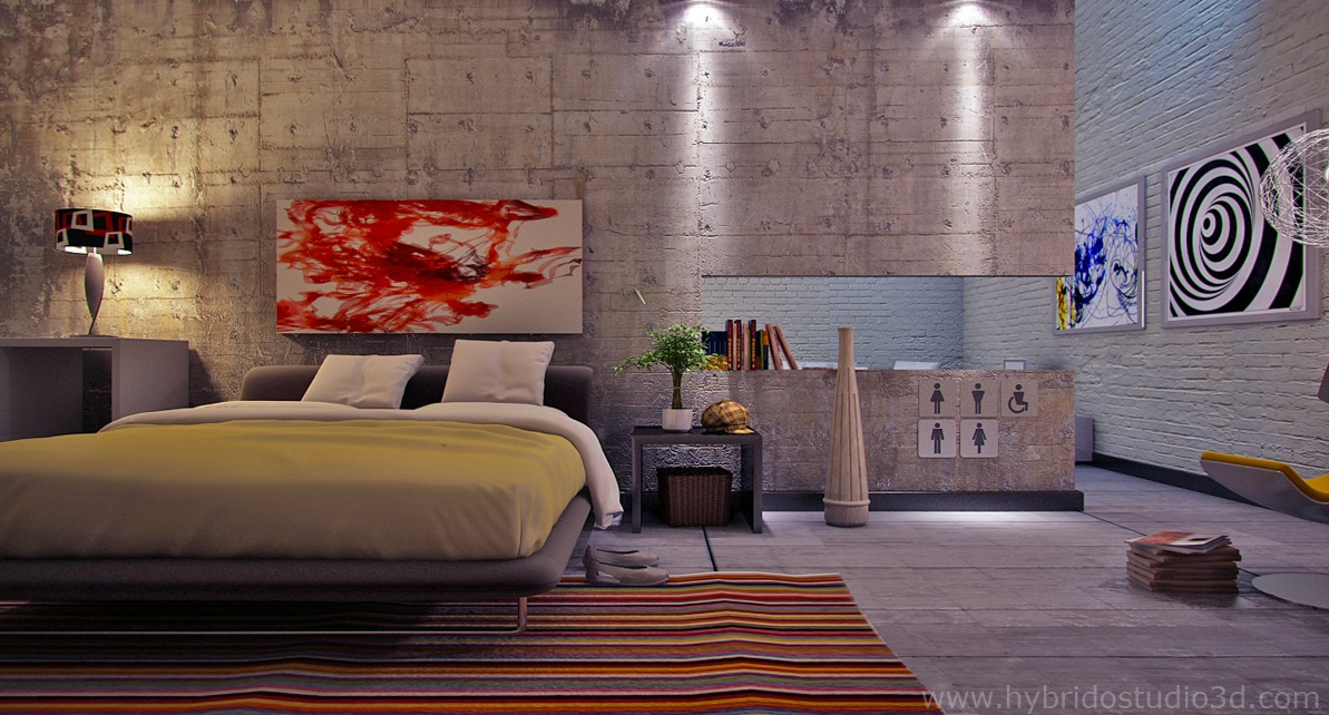 Wall Art Bedroom Modern : Contemporary bedroom designs demonstrate a perfect and