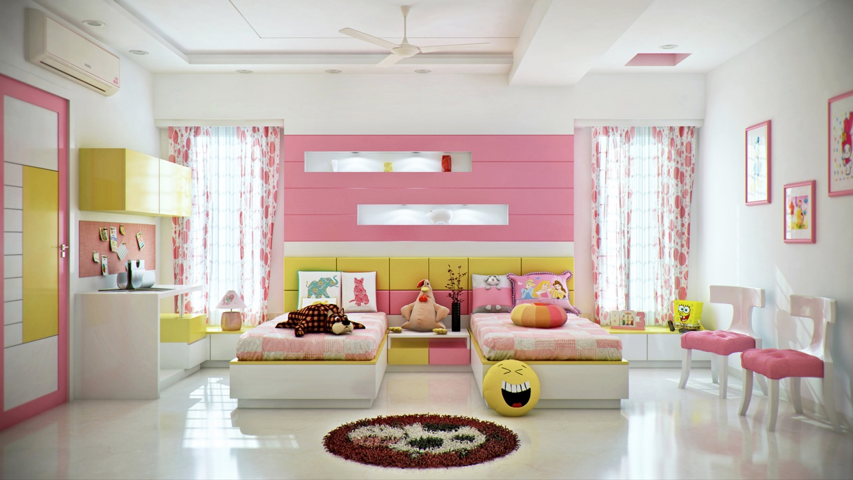 Attractive Bedroom Design For Girls