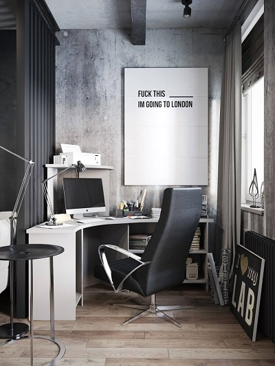 Interior design inspiration by using a modest workspace