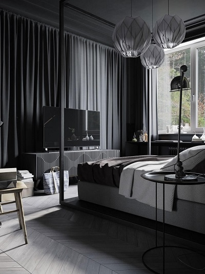 Interior design inspiration for a cozy bedroom
