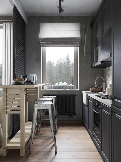 Interior design inspiration for a modest kitchen