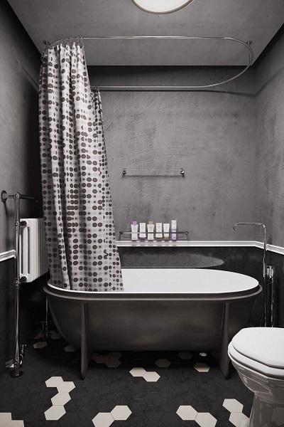 Interior design inspiration with modern appearance in bathroom