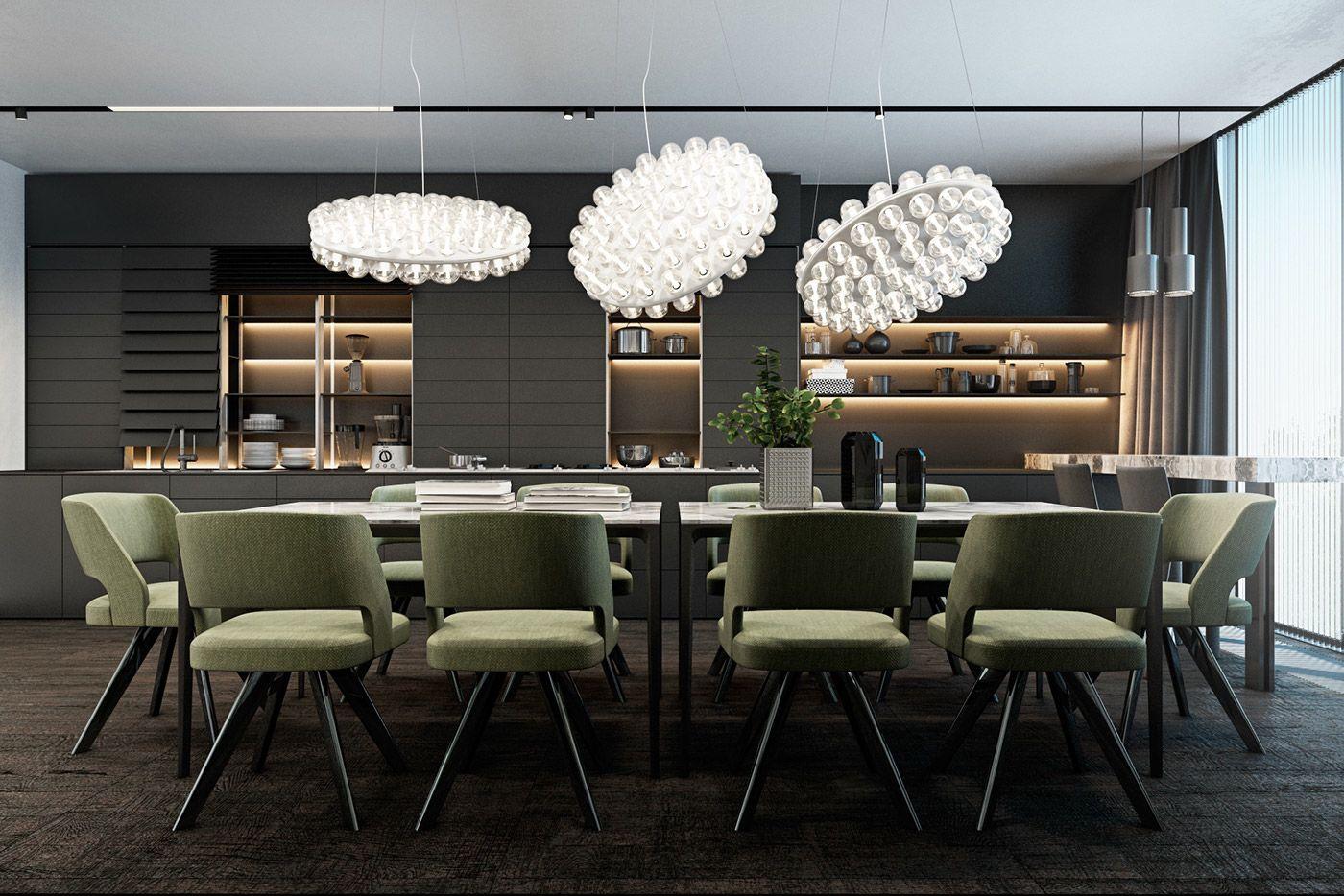 House Design Dark Color Concept Designs