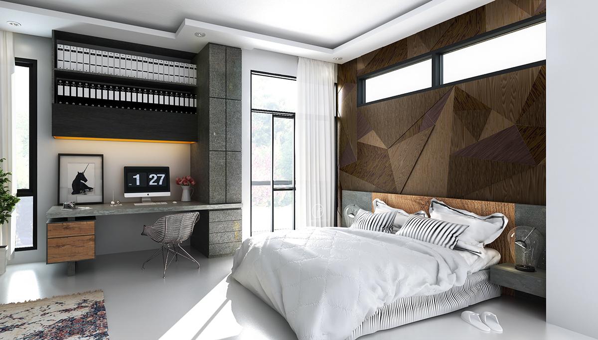 Bedroom Wall Texture Designs Looks So Fancy - RooHome
