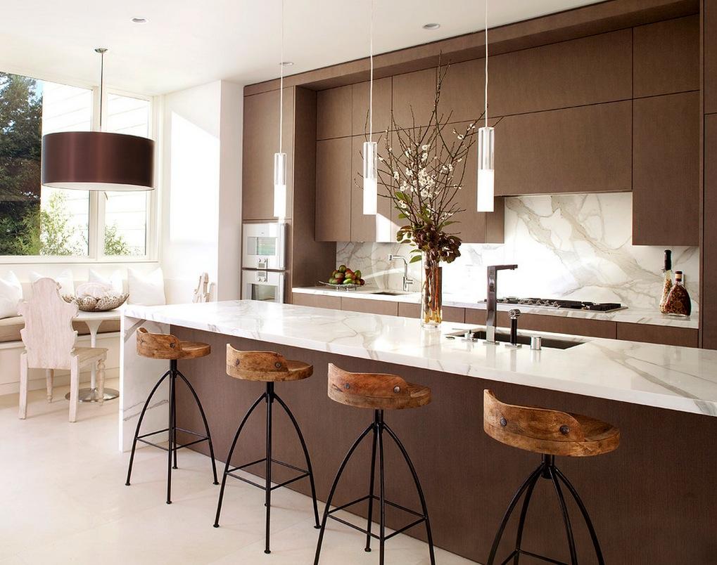 marble rustic kitchen backsplash