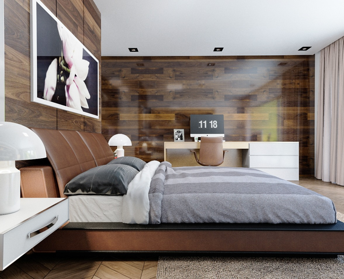 wooden style for bedroom