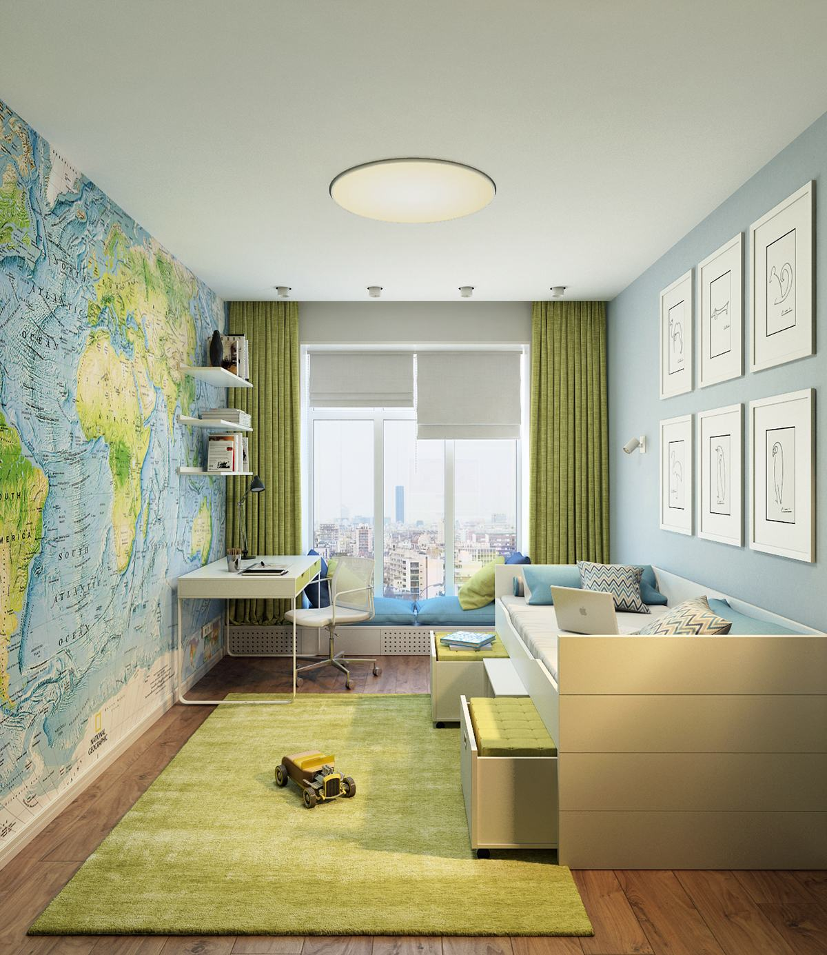 science wall for kids room