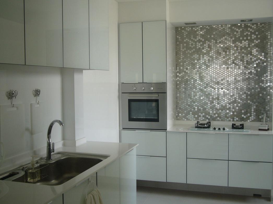 mirror kitchen wall design
