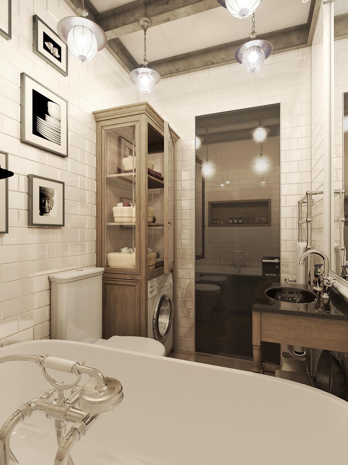 Dark Color For Small Apartment Interior Design With