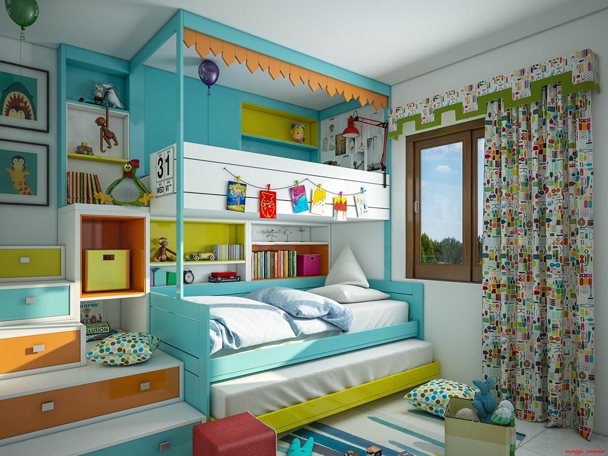 colorful bedroom design for girls